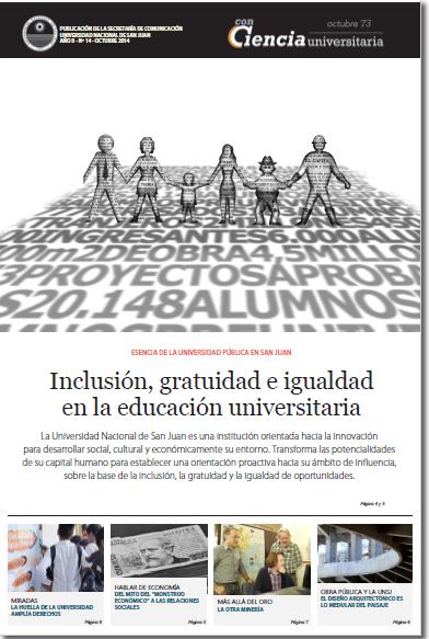 Inclusión, gratuidad e igualdad