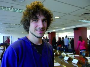 Samuel Busque, Francia, estudiante de Ciencias Políticas