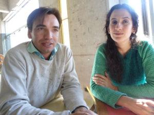 Dr. Emilio Paroldi y Lic. Emilce Medina, del Instituto de Biotecnología de la FI