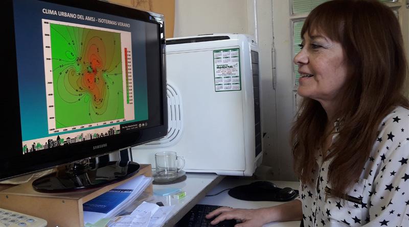 La isla de calor es producto de la acción del hombre: a las edificaciones urbanas hay que sumarle la poca forestación, señala la doctora Alejandra Kurbán directora del INEAA.